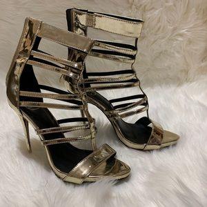 Gold stiletto Heels| Size:8